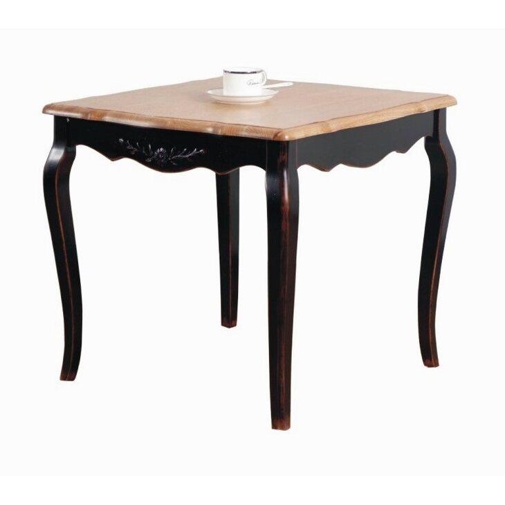 Чайный столик (квадратный) Leontina, черного цвета | Журнальные столики Kingsby