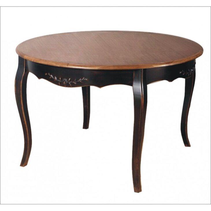 Круглый обеденный стол (большой) Leontina, черного цвета | Обеденные столы Kingsby
