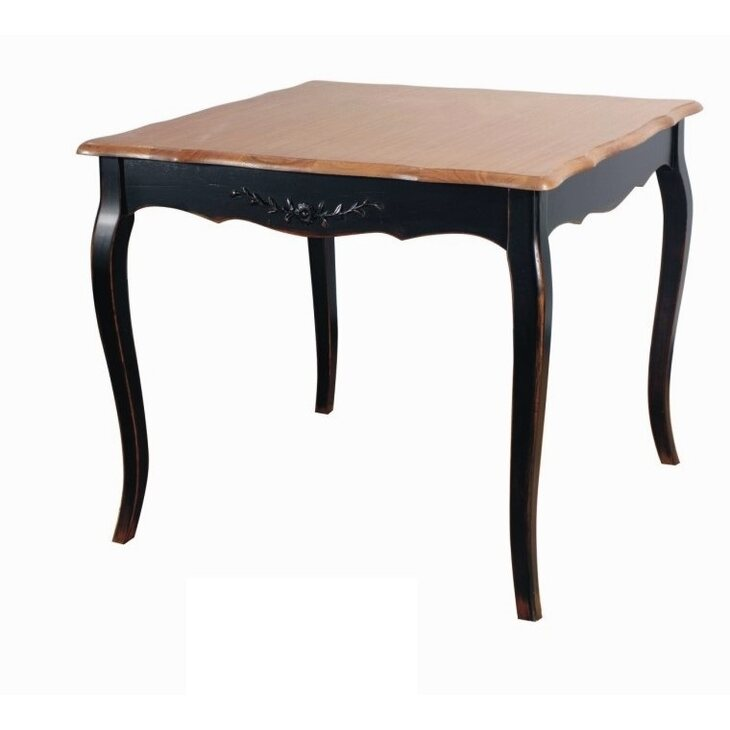 Обеденный стол (квадратный) Leontina, черного цвета | Обеденные столы Kingsby