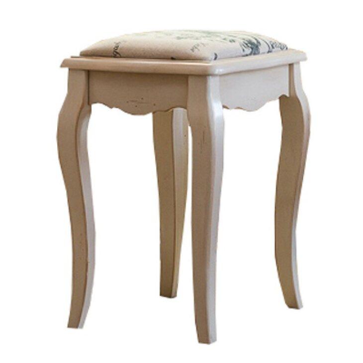 Табурет к макияжному столику с мягким сиденьем Leontina, бежевого цвета | Стулья Kingsby