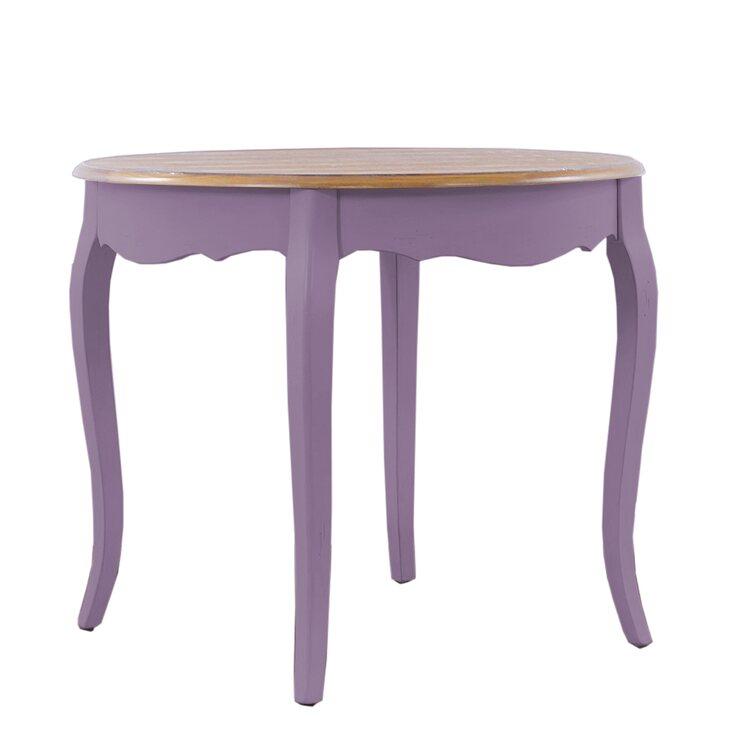 Круглый обеденный стол Leontina, лавандового цвета | Обеденные столы Kingsby