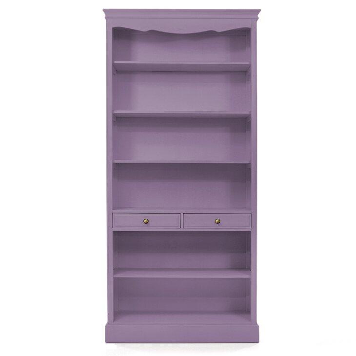 Стеллаж открытый с двумя ящиками Leontina, лавандового цвета | Стеллажи Kingsby