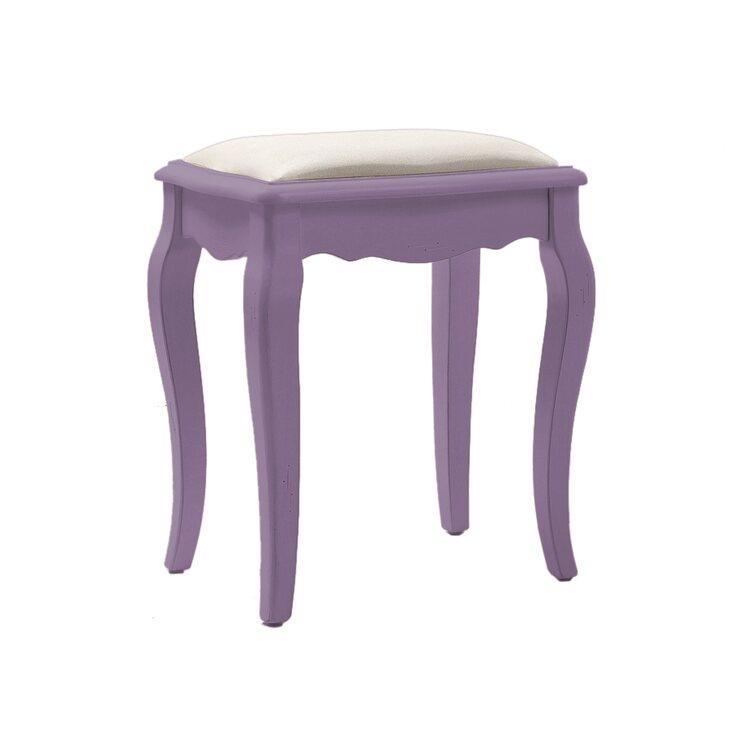 Табурет с мягким сиденьем Leontina, лавандового цвета   Стулья Kingsby