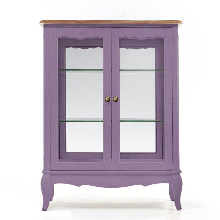Стеклянная витрина (двойная) Leontina, лавандового цвета | Витрины Kingsby