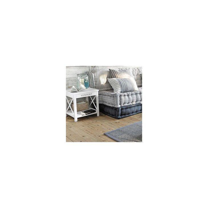Тумба прикроватная Portland, белого цвета | Прикроватные тумбы Kingsby