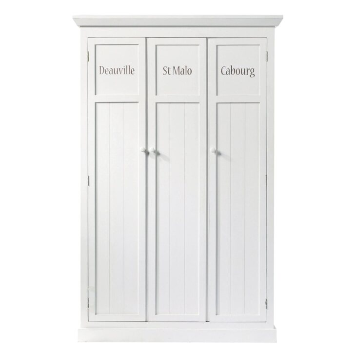 Шкаф трехстворчатый Portland, белого цвета   Платяные шкафы Kingsby