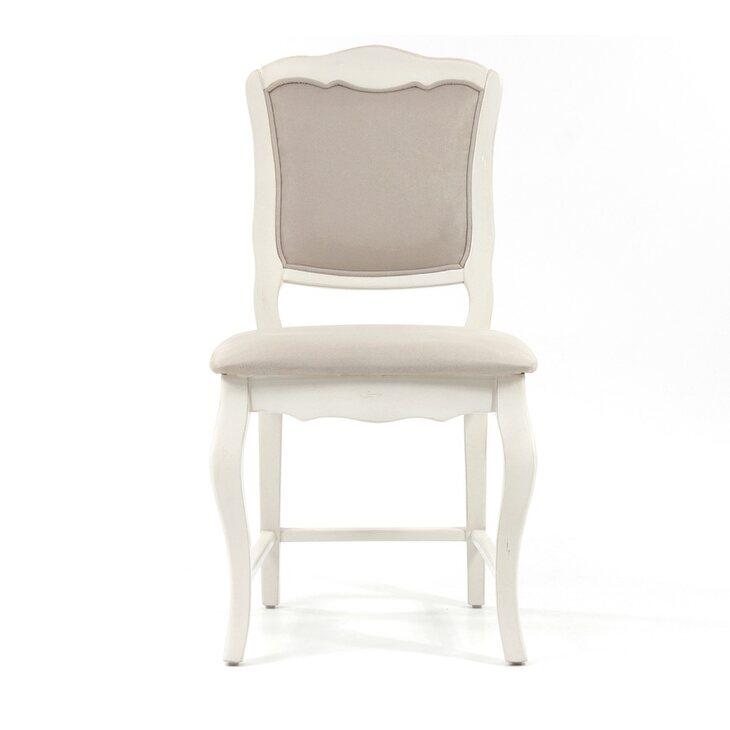 Стул с мягким бежевым сиденьем Leontina | Обеденные стулья Kingsby