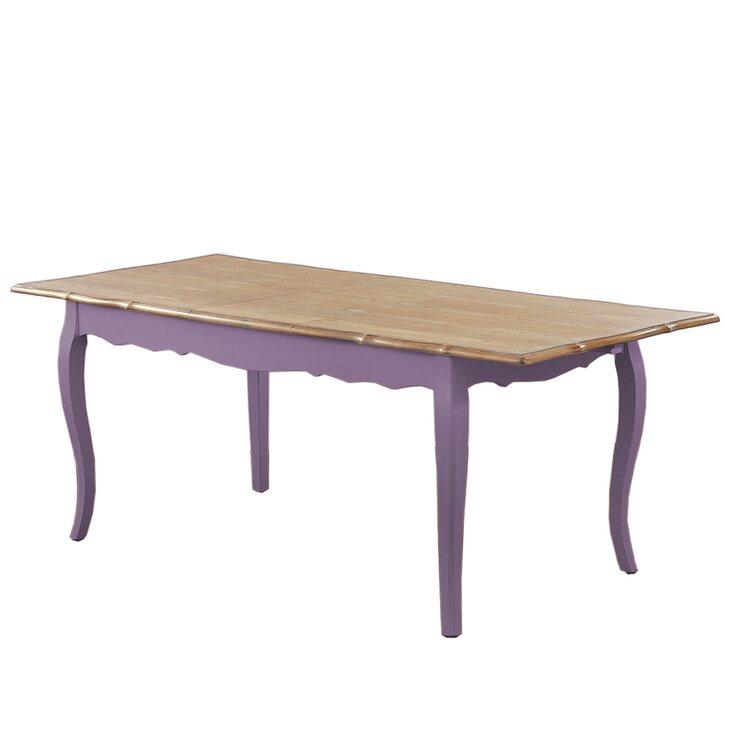 Стол обеденный раскладной Leontina, лавандового цвета | Обеденные столы Kingsby