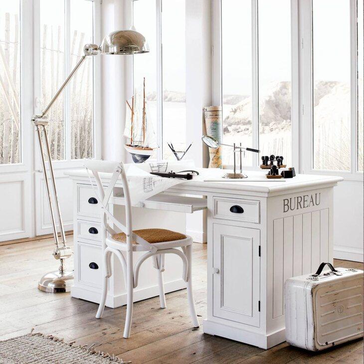 Стол рабочий Portland, белого цвета | Письменные столы Kingsby