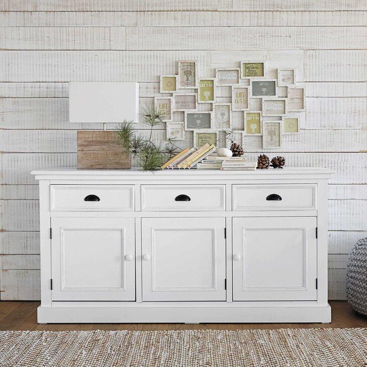 Буфет с дверцами и 3-я ящиками Portland, белого цвета | Буфеты Kingsby