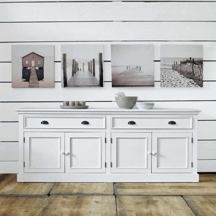 Буфет с дверцами и 2-я ящиками Portland, белого цвета | Буфеты Kingsby