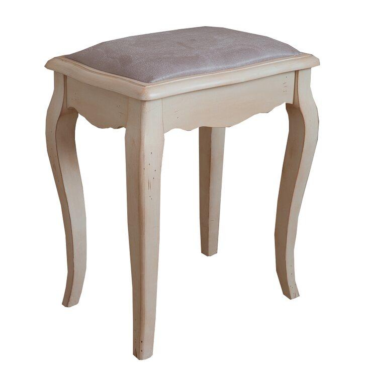 Табурет с мягким сиденьем к макияжному столику Leontina, бежевого цвета | Стулья Kingsby