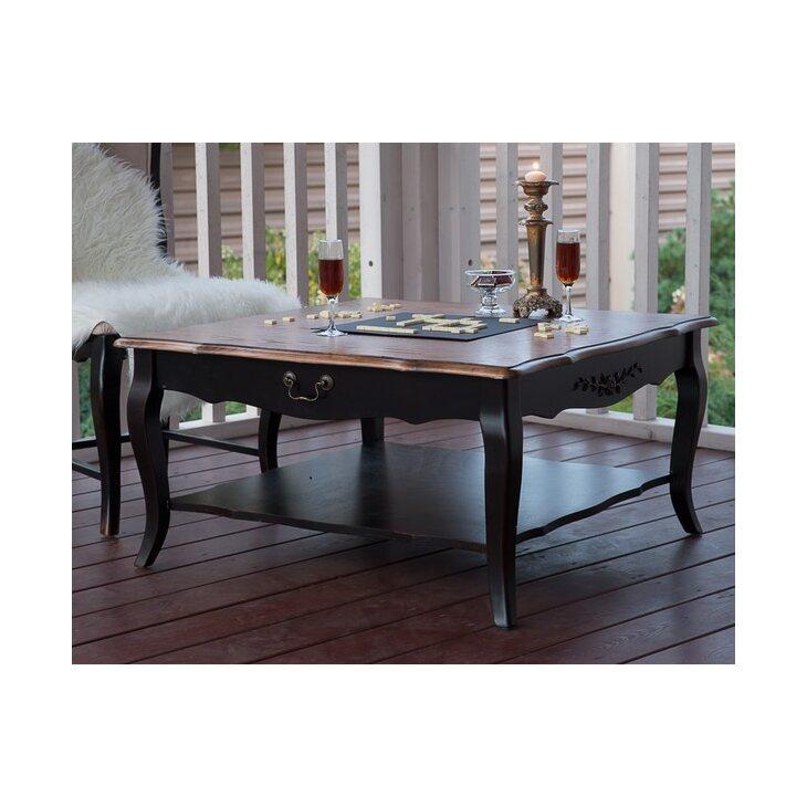 Квадратный низкий чайный столик Leontina, черного цвета | Журнальные столики Kingsby