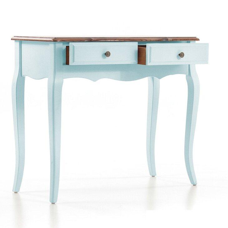 Рабочий стол (малый) Leontina, голубого цвета | Письменные столы Kingsby