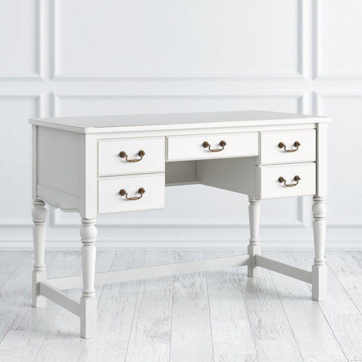 Кабинетный стол пристенный Villar, цвета слоновая кость | Письменные столы Kingsby
