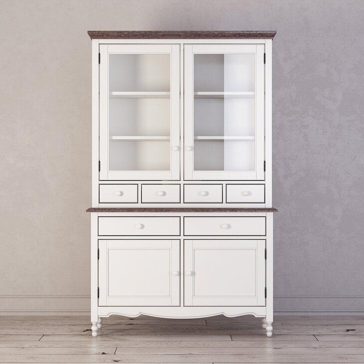 Буфет с ящиками и дверцами Leblanc, белый | Буфеты Kingsby