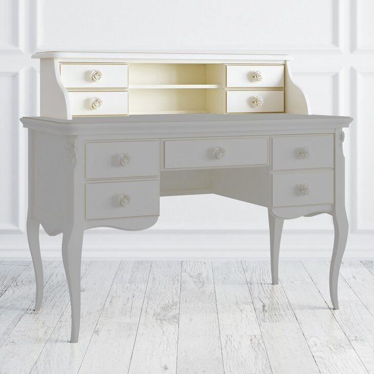 Навершие кабинетного стола Golden Rose, цвета слоновая кость | Письменные столы Kingsby