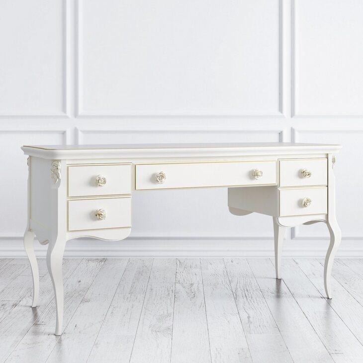 Кабинетный стол широкий Golden Rose, цвета слоновая кость | Письменные столы Kingsby