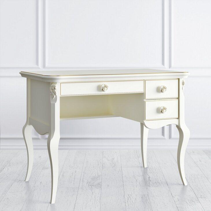 Стол кабинетный пристенный R Golden Rose, цвета слоновая кость | Письменные столы Kingsby