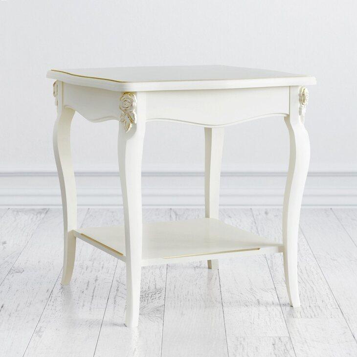 Столик квадратный Golden Rose, цвета слоновая кость | Журнальные столики Kingsby