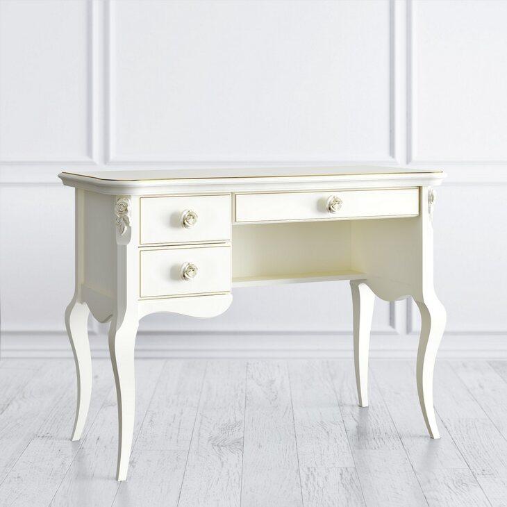 Туалетный столик L Golden Rose, цвета слоновая кость | Туалетные столики Kingsby
