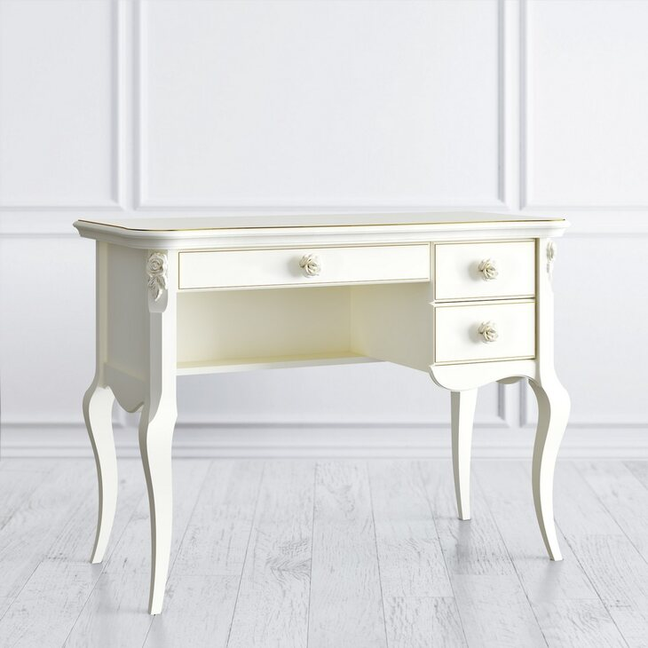 Туалетный столик R Golden Rose, цвета слоновая кость | Туалетные столики Kingsby