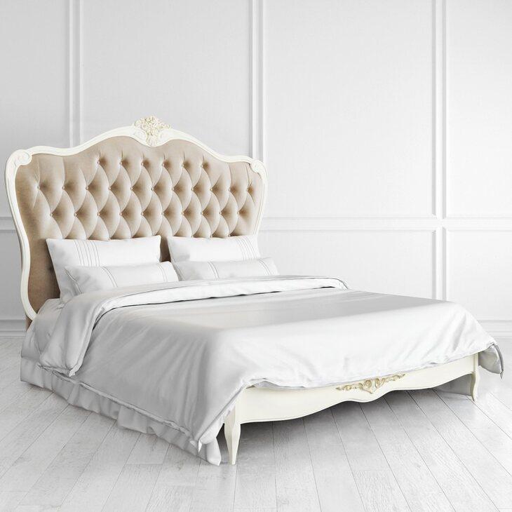 Кровать с мягким изголовьем 160*200 Golden Rose, цвета слоновая кость | Двуспальные кровати Kingsby
