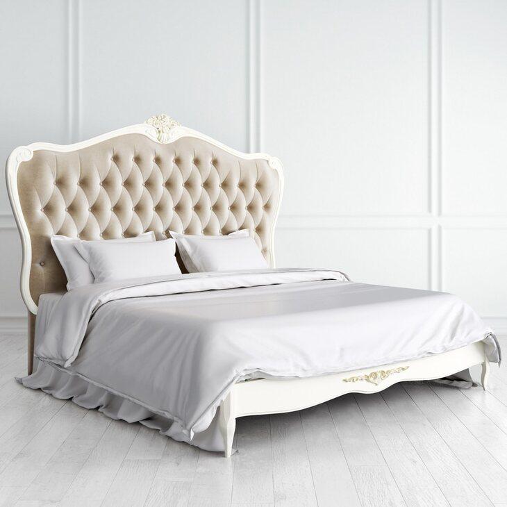 Кровать с мягким изголовьем 180*200 Golden Rose, цвета слоновая кость | Двуспальные кровати Kingsby
