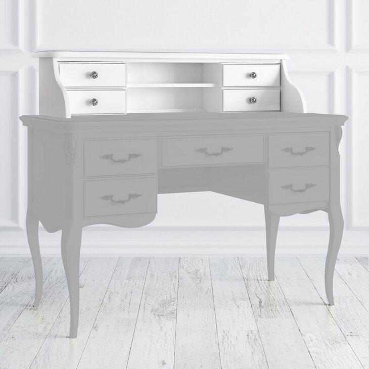 Навершие кабинетного стола Silvery Rome, белого цвета | Письменные столы Kingsby
