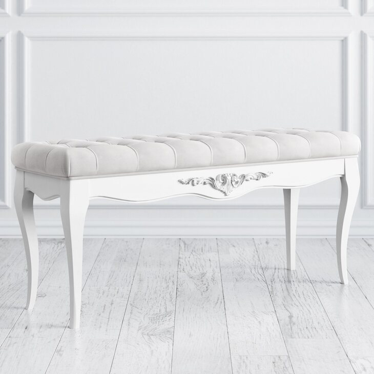 Банкетка Silvery Rome, белого цвета | Банкетки Kingsby