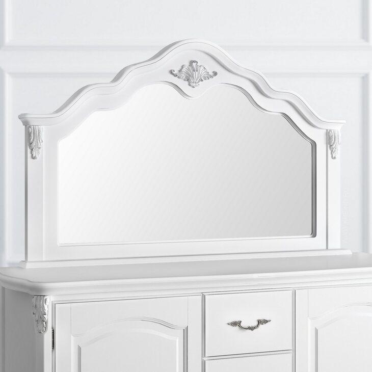 Зеркало к комоду Silvery Rome, белого цвета | Прямоугольные зеркала Kingsby