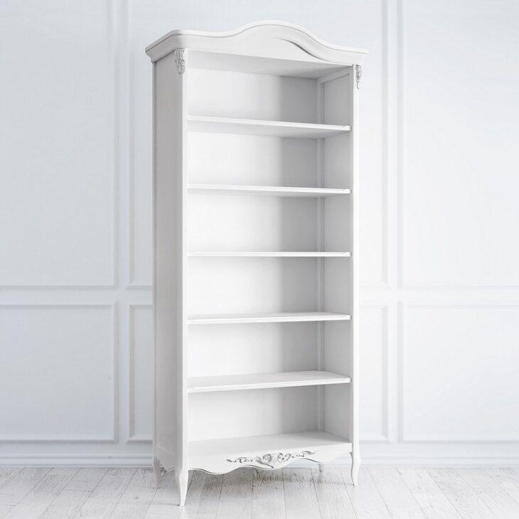 Книжный шкаф Silvery Rome, белого цвета | Книжные шкафы Kingsby