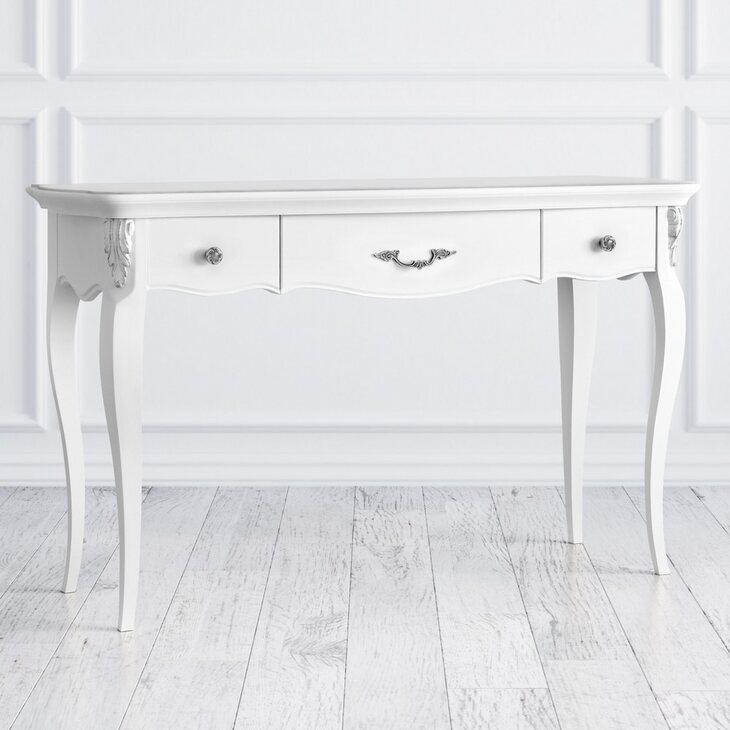 Столик-консоль Silvery Rome, белого цвета | Консоли Kingsby