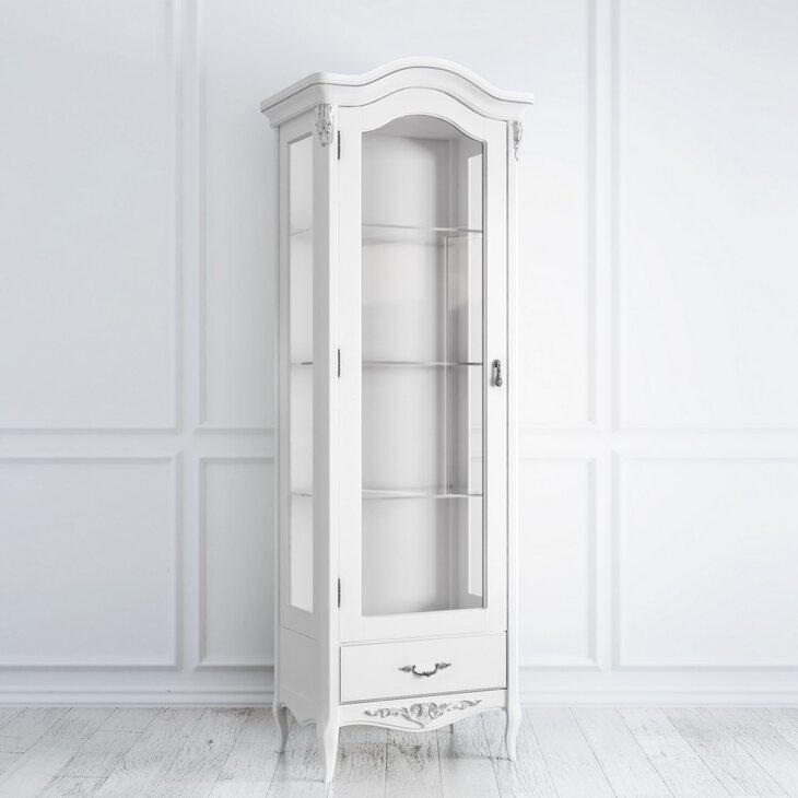 Витрина стеклянная L Silvery Rome, белого цвета | Витрины Kingsby