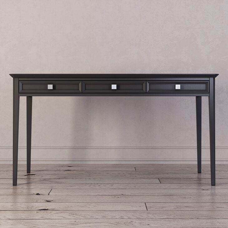 Письменный стол с 3-я ящиками Ellington, черный | Письменные столы Kingsby