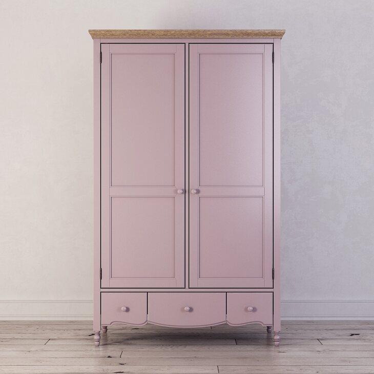Шкаф двухстворчатый Leblanc, лаванда | Платяные шкафы Kingsby