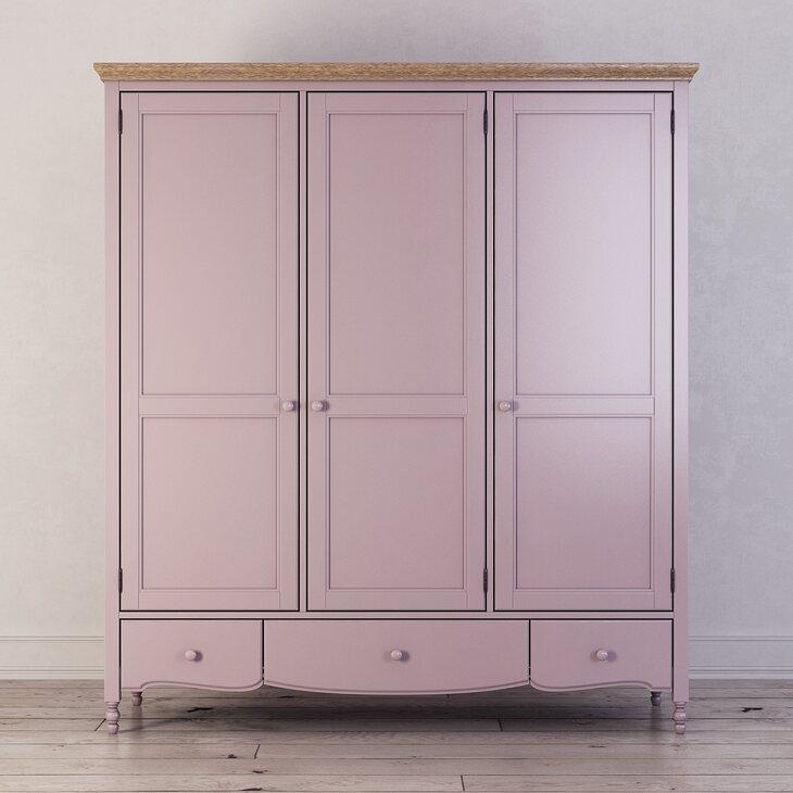 Шкаф трехстворчатый Leblanc, лаванда | Платяные шкафы Kingsby