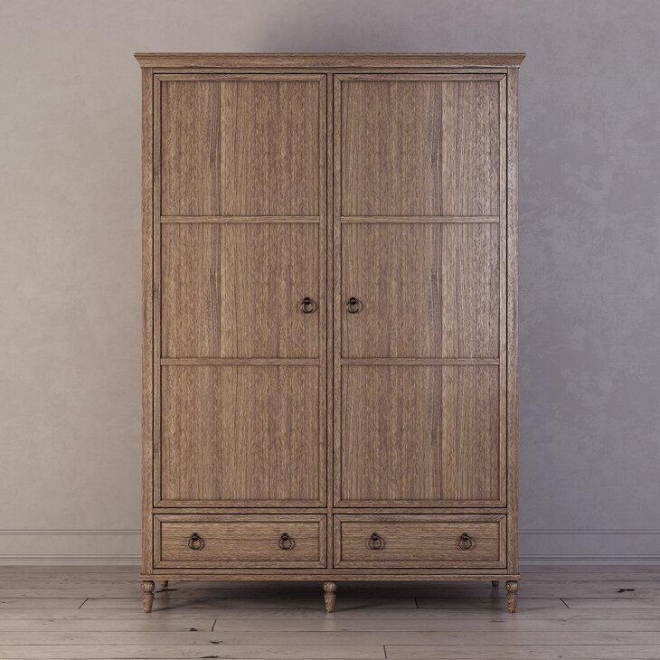 Шкаф двухстворчатый Vilton, дуб | Платяные шкафы Kingsby