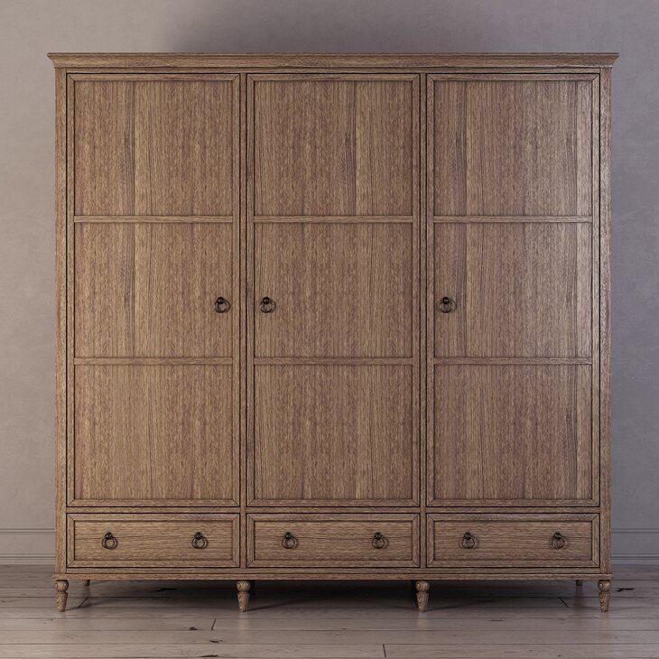 Шкаф трехстворчатый Vilton, дуб | Платяные шкафы Kingsby
