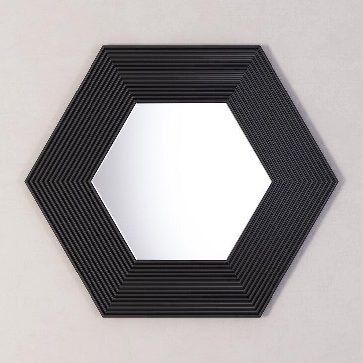 Зеркало Сorners black | Настенные зеркала Kingsby