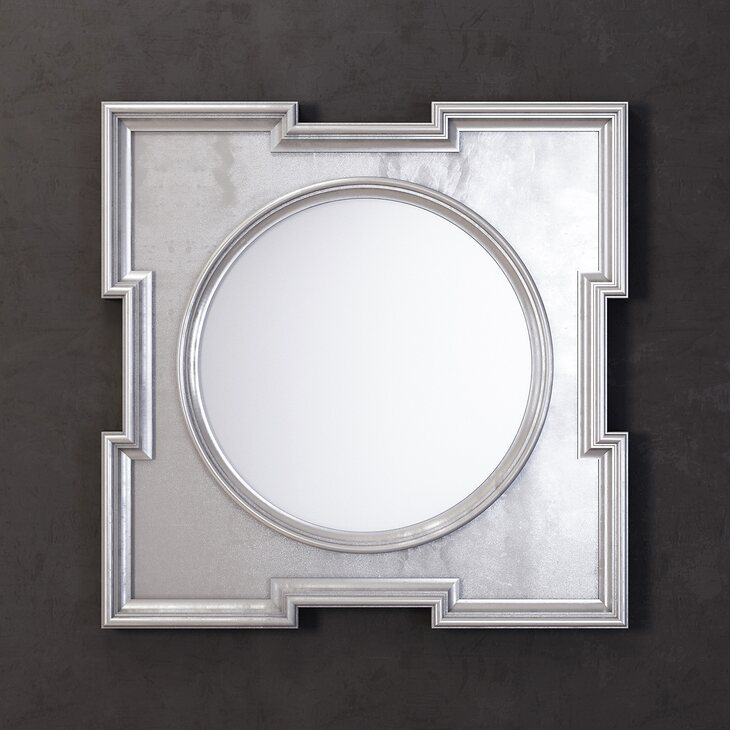 Зеркало Orlando, silver | Настенные зеркала Kingsby