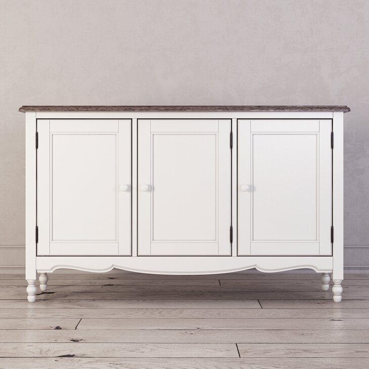 Буфет c 3-я дверцами Leblanc, белый | Буфеты Kingsby