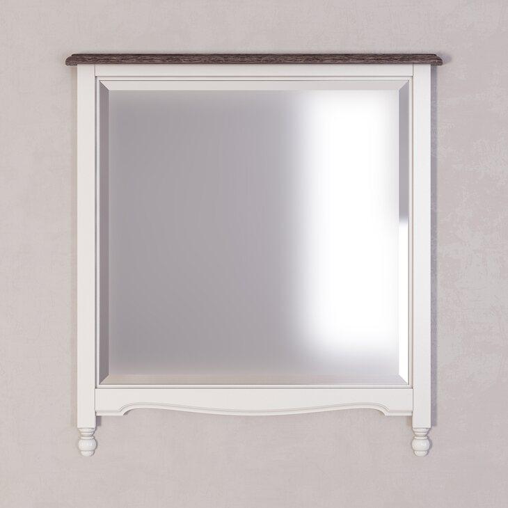 Зеркало прямоугольное Leblanc, белое | Настенные зеркала Kingsby