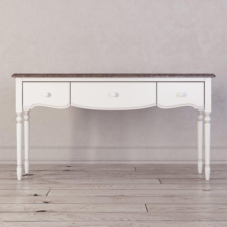 Консоль с 3-я ящиками Leblanc, белая | Консоли Kingsby