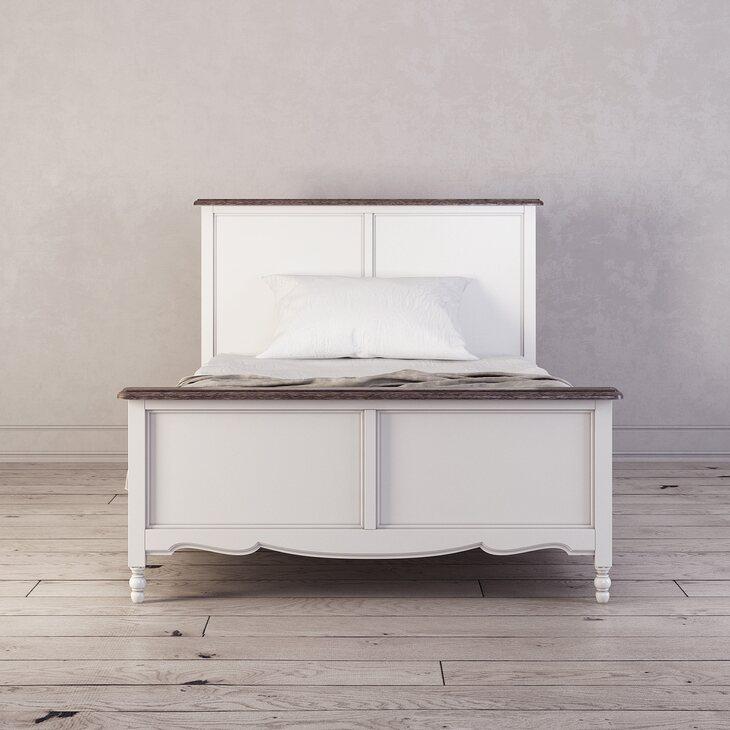 Кровать односпальная 120*200 Leblanc, белая | Односпальные кровати Kingsby