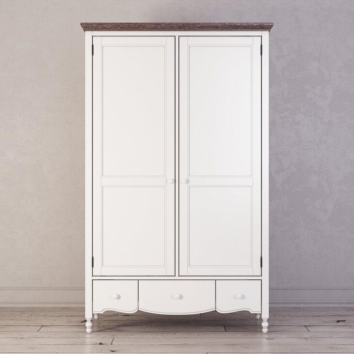 Шкаф двухстворчатый Leblanc, белый | Платяные шкафы Kingsby