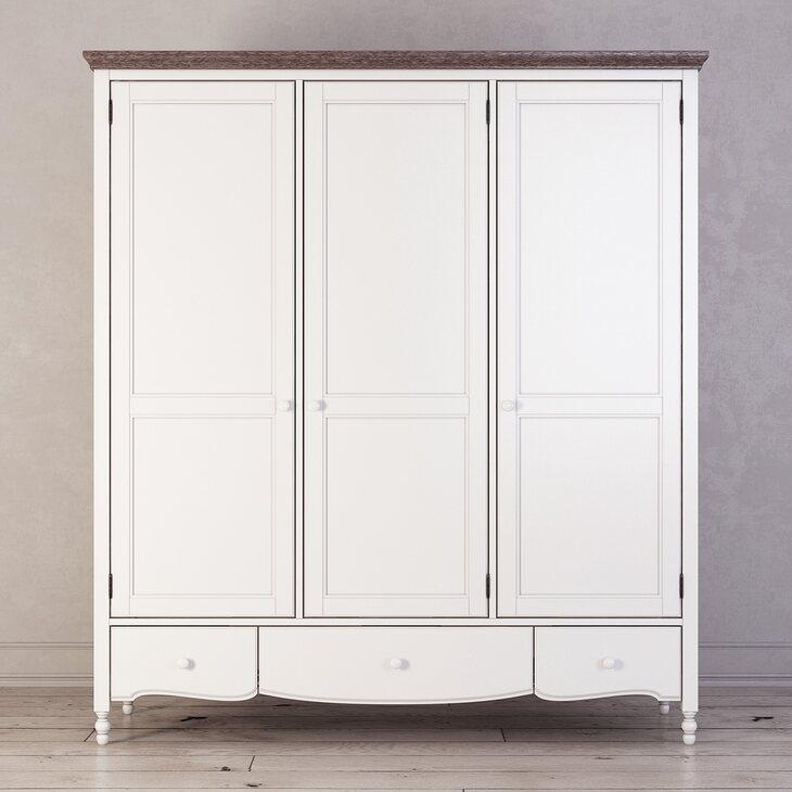 Шкаф трехстворчатый Leblanc, белый | Платяные шкафы Kingsby