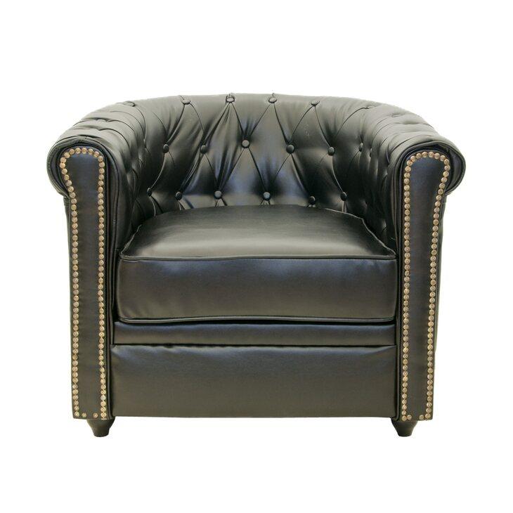 Кожаное кресло Karo black | Кожаные кресла Kingsby