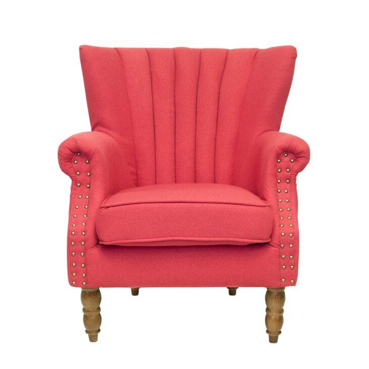 Кресло с пуфом Lab red | Каминные кресла Kingsby