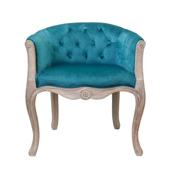 Низкое кресло Kandy blue velvet | Маленькие кресла Kingsby